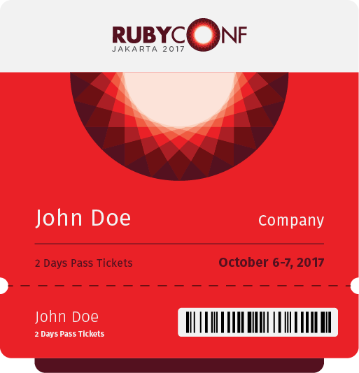 Ticket RubyConf Indonesia 2017